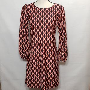 Jude connally Chloe diamond lattice black dress